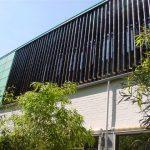 Fassade aus Bambusstäben