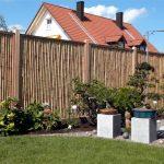 Holz-Bambus-Zaun