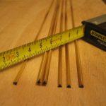Überprüfung der Bambusstäbe