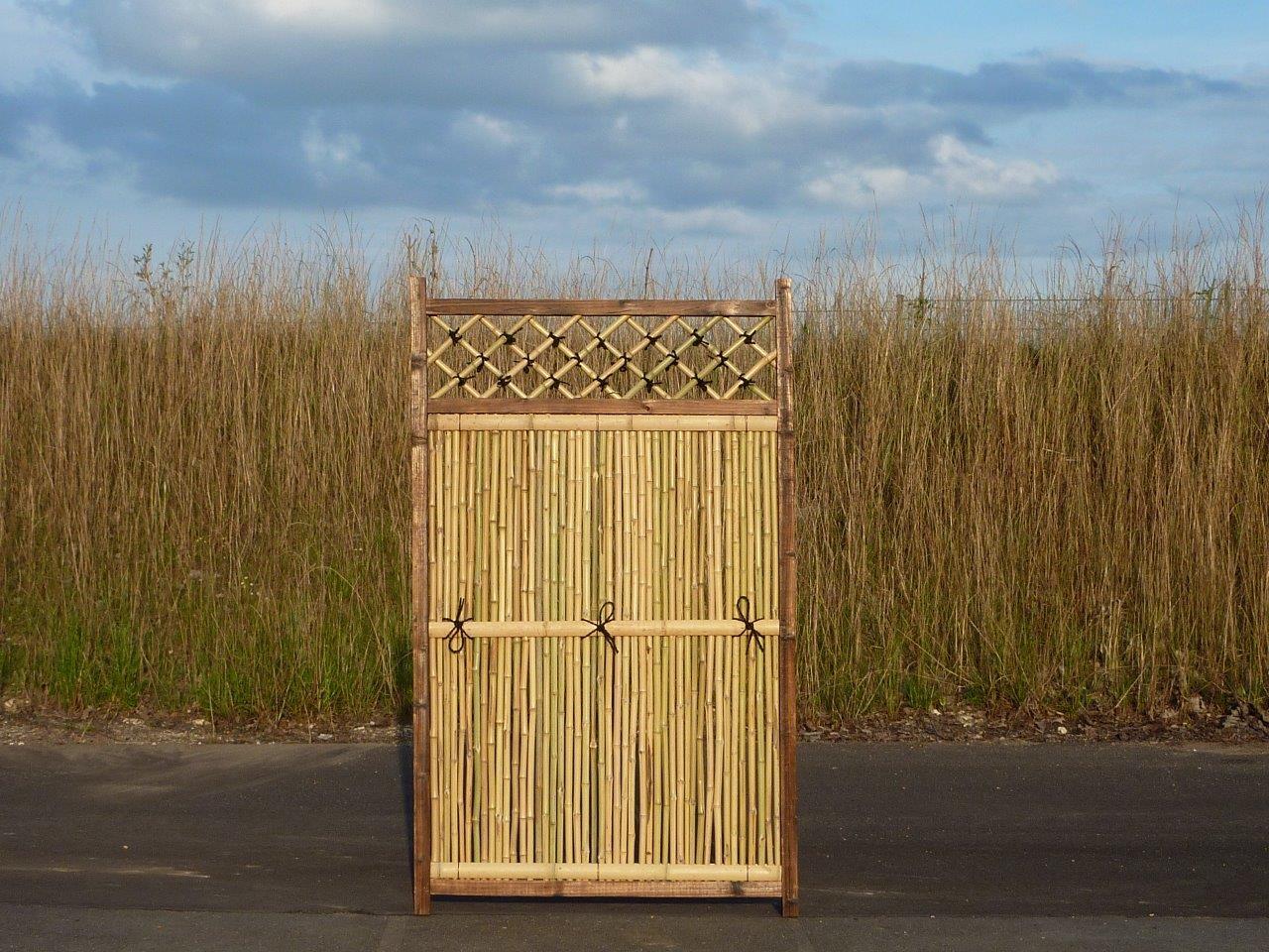 Bambus-Sichtschutz Zaun mit Holzrahmen für Japangarten von Bambushandel CONBAM