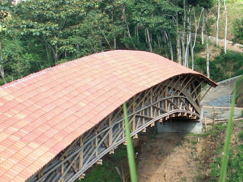 Bambusbrücke Kolumbien CONBAM