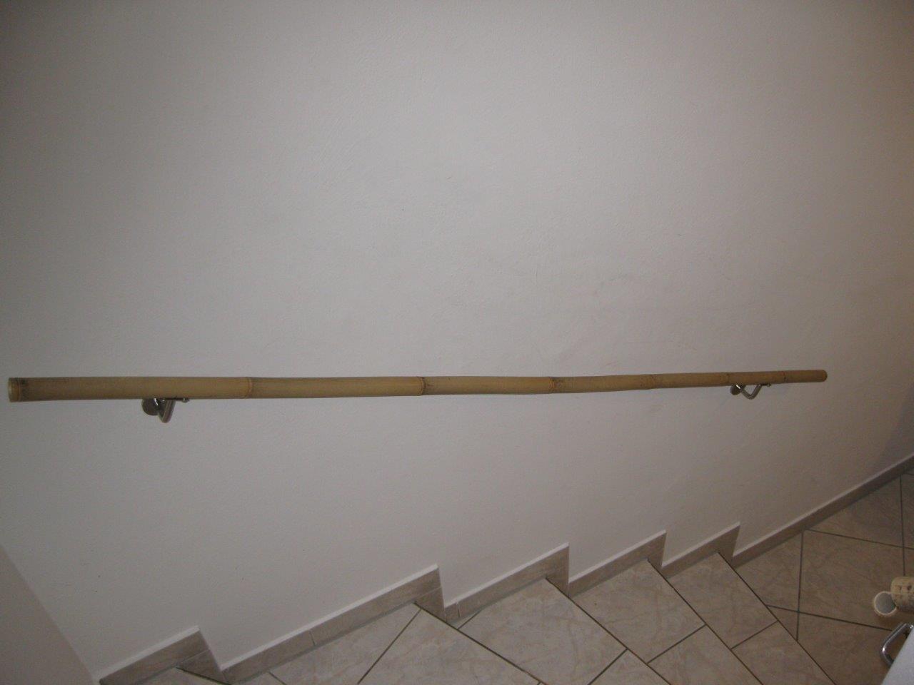 Bambusstange als Treppen-Geländer vom Bambus-Fachhandel CONBAM