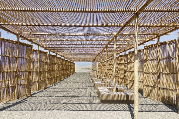 Pergola aus Bambus und Bambus-Sichtschutz-Elemente__22347-6