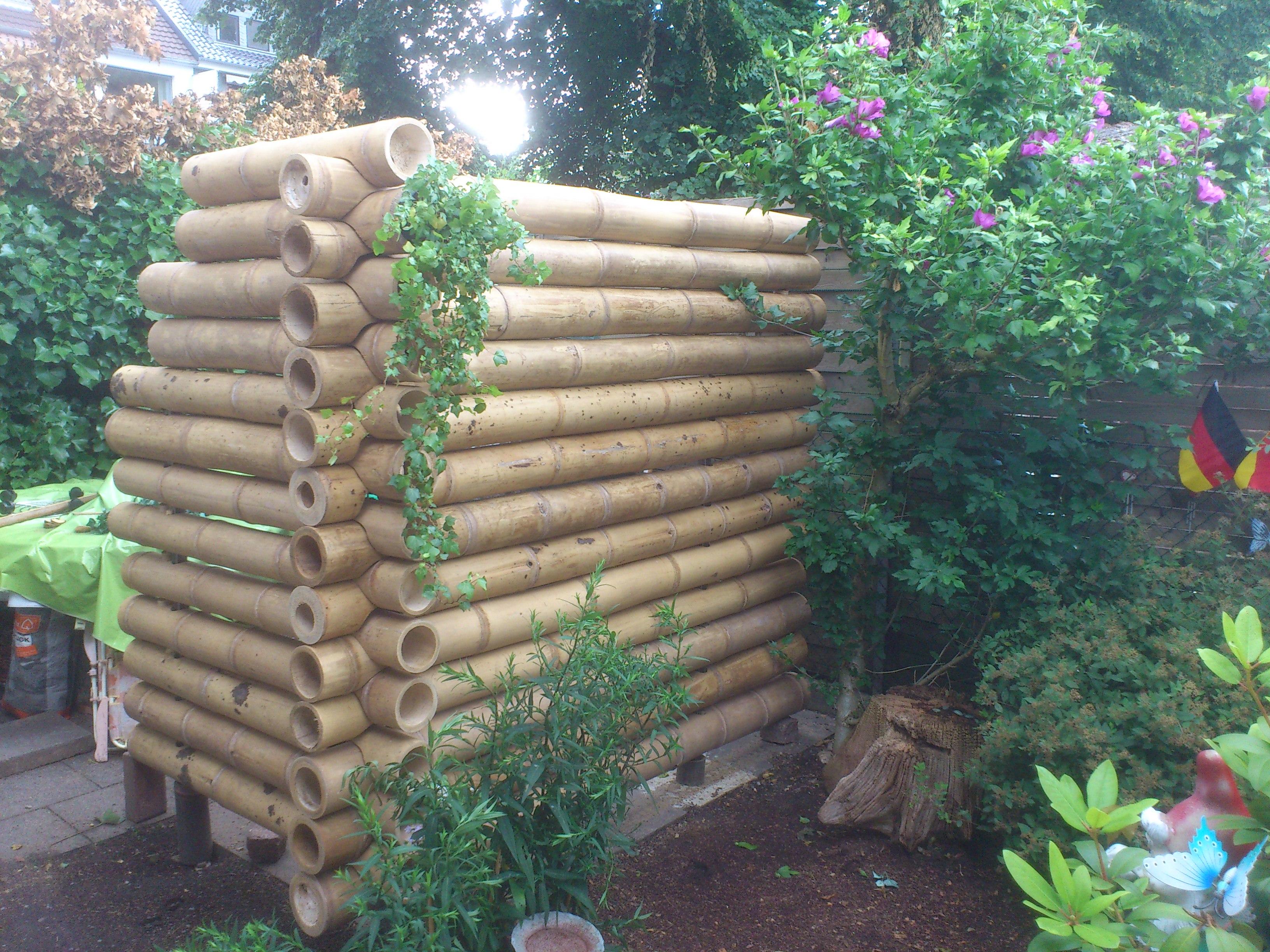 Bambus-Blockbau mit Bambusstangen GUADUA vom Bambushandel CONBAM