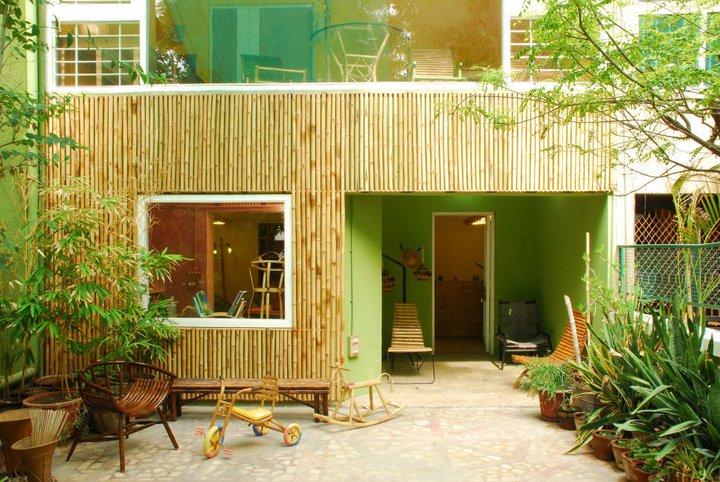 Bambusfassade rhizom design studio - Fassade aus Bambusrohr