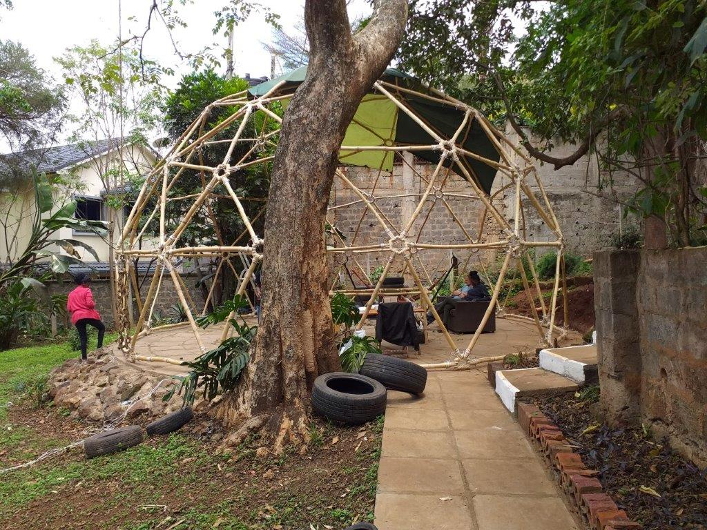 Geodesic Bamboo Dome in Kenya 20190910_115808