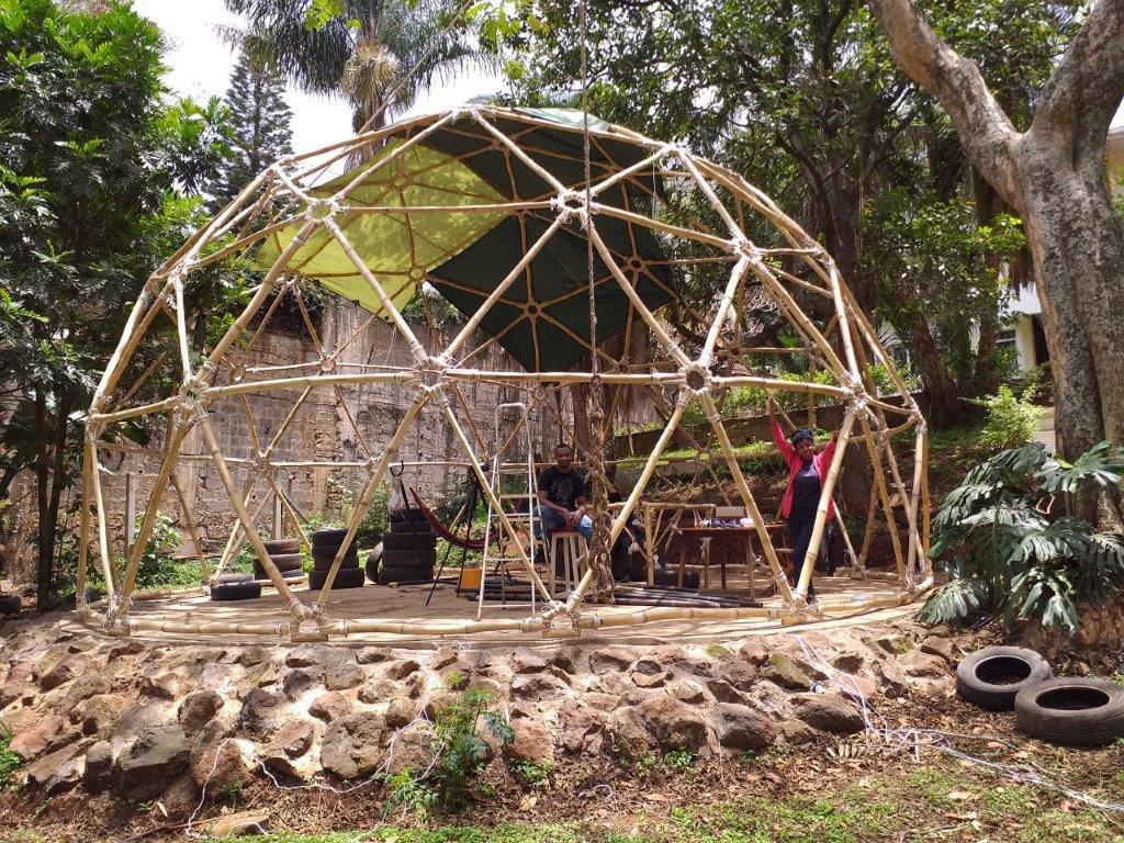 Geodesic Bamboo Dome in Kenya 20190910_120059