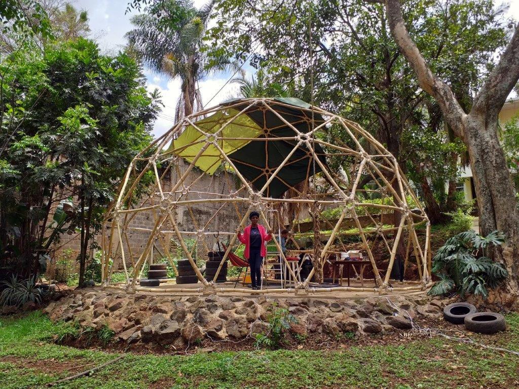 Geodesic Bamboo Dome in Kenya 20190910_121704