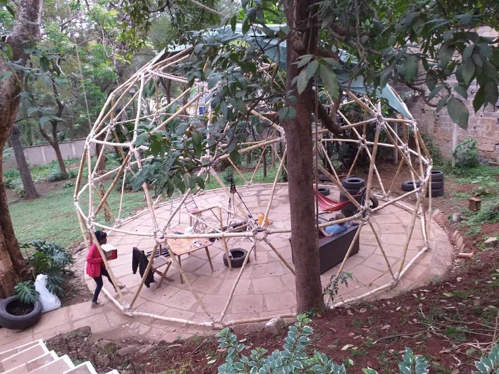 Geodesic Bamboo Dome in Kenya 20190910_122544