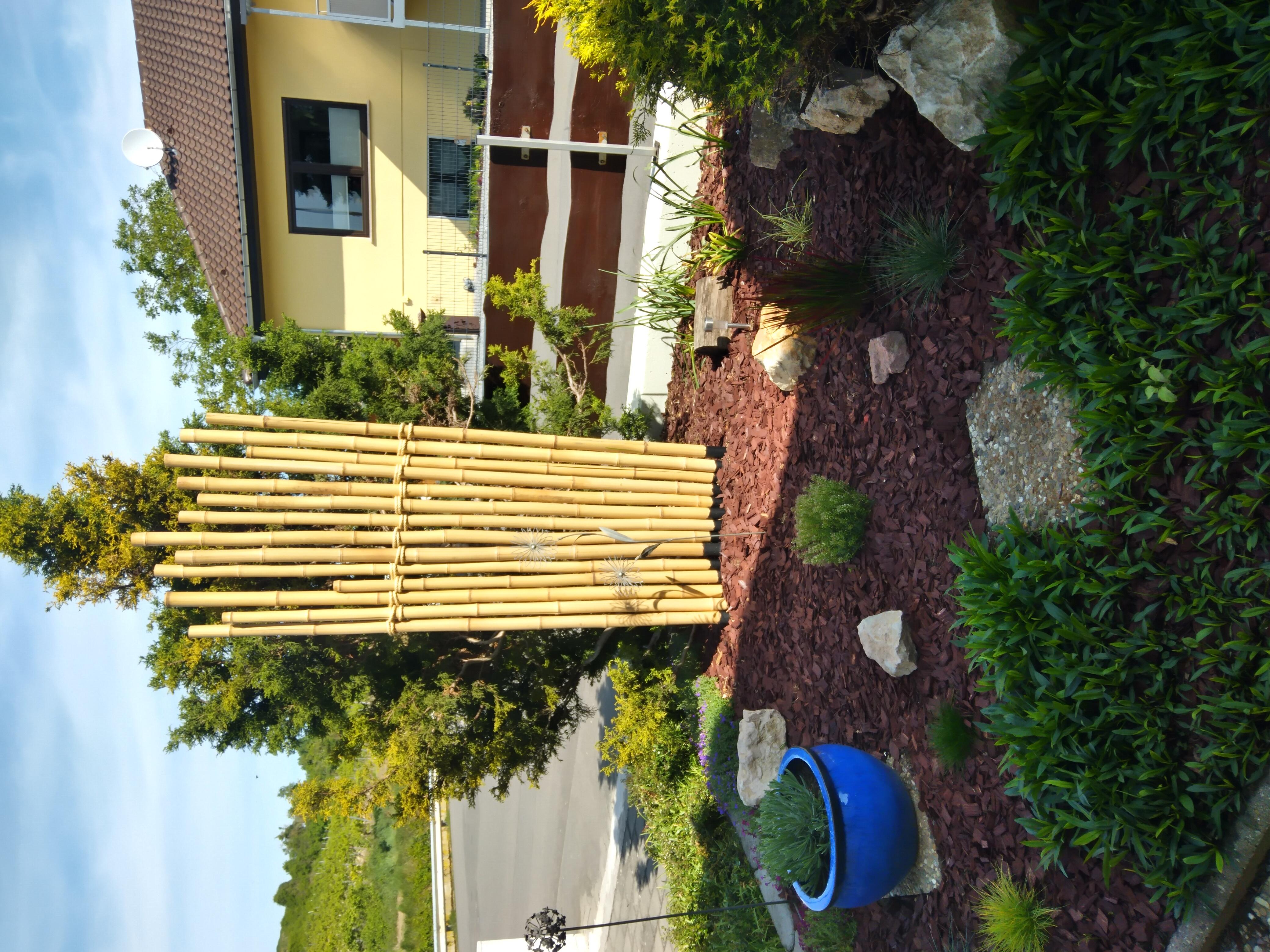 Fächer aus gelben Bambusrohren von CONBAM